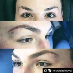 THESE BROWS MAKE US SQUEEEE WITH DELIGHT! Mega-boss (and BABE) #BROWBOSS Hayley from @microbladingyyj just absolutely killed it with these GORGEOUS ARCHES for her client. Exceptional job darling! 🙌🙌🙌