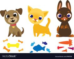 Set of pets. Download a Free Preview or High Quality Adobe Illustrator Ai, EPS, PDF and High Resolution JPEG versions.