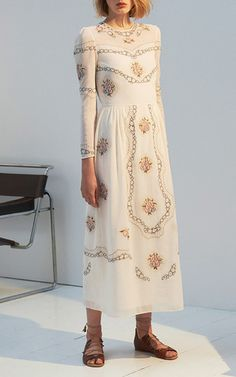 The Sofia Cotton Lawn Midi Dress by Vilshenko | Moda Operandi