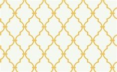Wallpaper - Trellis Wallpaper in Off-White and Yellow by Antonina Vella - Seabrook Designs | Seabrook Wallpaper | BurkeDecor.com - white, yellow, trellis, wallpaper
