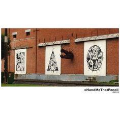 Graffiti art a craaaaazy dragon head sculpture... Beautiful street art in Whanganui... #graffiti #streetart #sculpture