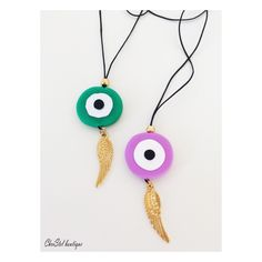 Browse unique items from christelboutique on Etsy, a global marketplace of handmade, vintage and creative goods. Evil Eye Jewelry, Evil Eye Necklace, Evil Eye Bracelet, Greek Jewelry, Unique Jewelry, Greek Evil Eye, Macrame Cord, Crochet Accessories, Polymer Clay Jewelry