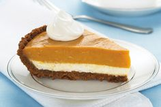 Kraft foods' two layer pumpkin pie Brownie Desserts, Mini Desserts, Oreo Dessert, Coconut Dessert, Pumpkin Dessert, Just Desserts, Delicious Desserts, Yummy Treats, Sweet Treats