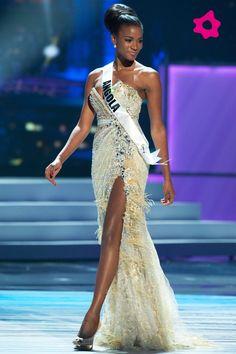 Black Venezuela Models | Vestido de gala da Miss Universo