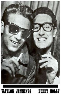 Texans Buddy Holly & Waylon Jennings, in a photo booth... Did you know that Waylon gave Buddy his seat on the plane that crashed? It haunted him. Every moment we have is precious.