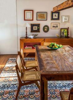 mesa em madeira rustica / Turbine o décor com o estilo rústico #hogarhabitissimo