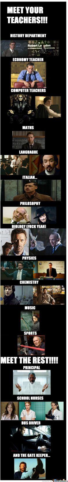 YESSS!!!!!    Please let Tony Stark teach my physics and Sherlock teach me Chemistry... Please, please, PLEASSSSE!!!!!!