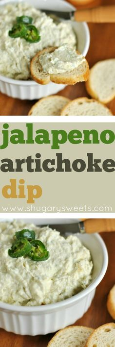 Delicious, spicy, Jalapeno Artichoke Dip! Copycat recipe from Costco.