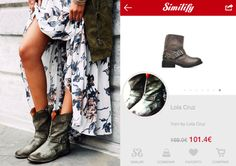 ¿Quien dijo que las botas solo eran para invierno?  #women #trends #trendalert #ss14 #summertrend #booties #grey #shoes #flatshoes #similify #smartvisualshopper #visualshopping #thenewshoppingexperience #fashionsearch #visualsearch #fashiontech #freeapp #ios #android