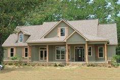 Farmhouse Style House Plan - 4 Beds 3 Baths 2565 Sq/Ft Plan Exterior…love the colors New House Plans, Dream House Plans, My Dream Home, Metal House Plans, Ranch House Plans, Farmhouse Plans, Farmhouse Style, Farmhouse Design, Br House