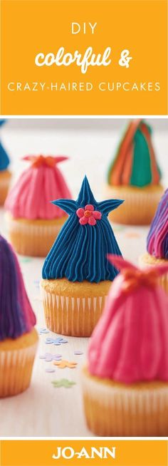These DIY Colorful and Crazy-Haired Cupcakes are as cute as can be! Great for kids' birthday parties, you can find this recipe for these adorable treats—just in time for a festive occasion with your little ones.