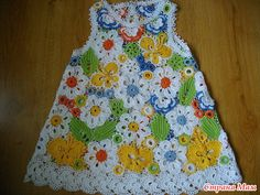 TRICO and CROCHET-madonna-mine: Russian crochet dresses for girls spectacular