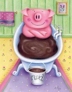 A real pig likes mud