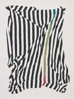 "Matthew Palladino — Drapery 5, 47""X35"", Acrylic Ink on Paper, 2014"