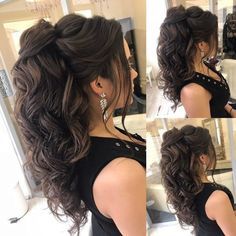 Cheveux à Elstile Coiffures à Elstile # эльстиль ____________. - Cheveux à Elstile Coiffures à Elstile # эльстиль _______________________________________________________ Elstile - - Quince Hairstyles, Wedding Hairstyles For Long Hair, Wedding Hair And Makeup, Up Hairstyles, Pretty Hairstyles, Hair Makeup, Hair Wedding, Indian Hairstyles, Long Curly Hair