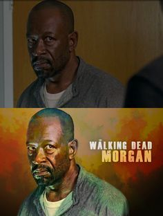 My digital painting of a screenshot! FanArt from The Walking Dead! #Morgan #Lennie James
