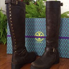 NEW Tory Burch Boots Tory Burch Tyson Boot. Purchased from Tory Burch... I love these naturally distressed boots , they've never been worn. I started having buyers remorse too late to return...I just have to many boots and would like to sell these. Tory Burch Shoes Heeled Boots