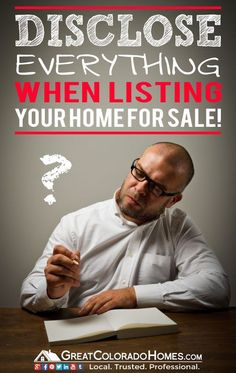 Disclose Everything When Listing Your House for Sale! #realestate