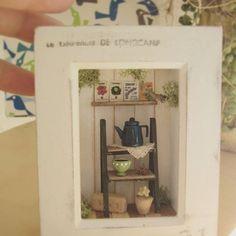 2 Casa De Muñecas En Miniatura De Impresiones Art Deco Q6