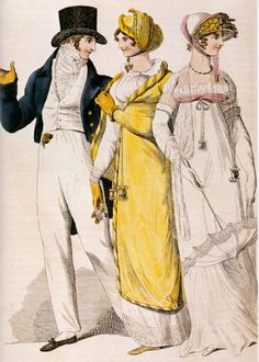 I have got to sew a high neck regency dress like this for sense and sensibility! Fanny Price?  fashion plate from 1810