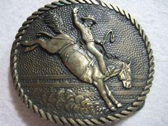 Rodeo Bronc Riding Brass Belt Buckle Award Design Medals Western Cowboy Oval #AwardDesignMedals