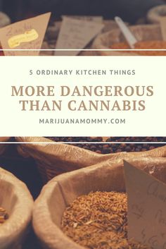 Is Marijuana Harmful? 5 Ordinary Things More Dangerous Than Weed These five things are most likely in your kitchen, but the truth is they're far more dangerous cannabis.  One of them you probably drink every day....maybe two of them.  Did you know these ordinary things were deadly?  https://www.marijuanamommy.com/is-marijuana-harmful-things-more-dangerous-than-weed/