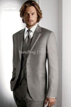 Groom Tuxedos Best Man Suits Groomsmen Men Wedding Suits (Jacket+Pants+Vest+Tie) NO:150
