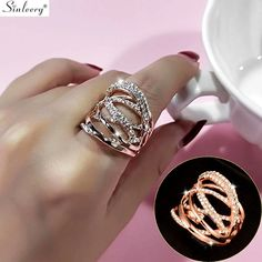 Multi Circles Twisted Wide Ring In Rose Gold & Silver Color Rose Gold Jewelry, 18k Rose Gold, Fine Jewelry, Women Jewelry, 18k Gold, Wide Rings, Wedding Band Sets, Rose Gold Plates, Silver Color