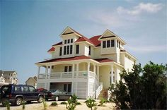 Beach front house plan with 5 bedrooms