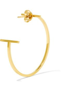 Tiffany & Co - T Wire 18-karat Gold Hoop Earrings - one size