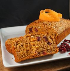Homemade Carrot, Walnut & Cranberry Loaf - love this! I would make it gf and add more cranberries