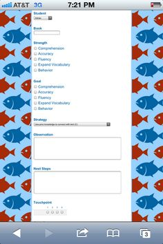 Google form for daily 5 conferences. Info compiles into a spreadsheet so you can easily sort students by strategy etc.