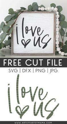 Cricut Svg Files Free, Cricut Fonts, Free Svg Cut Files, Love Is Free, Love Us, Cricut Craft Room, Craft Projects, Diy Vinyl Projects, Wood Projects