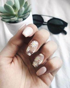 Best Acrylic Nails, Acrylic Nail Designs, Nail Designs Floral, Floral Design, Creative Nail Designs, Simple Nail Designs, Acryl Nails, Aycrlic Nails, Coffin Nails
