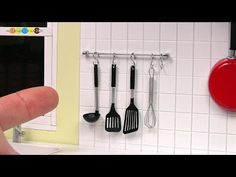 DIY Miniature Kitchen tool set ミニチュアキッチンツールセット作り - YouTube