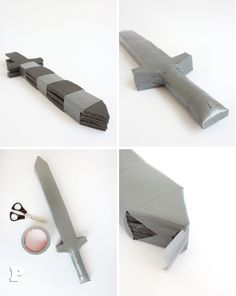 Foam Swords by Pysselbolaget Cosplay Tutorial, Cosplay Diy, Cosplay Ideas, Cardboard Sword, Sword Craft, Diy For Kids, Crafts For Kids, Toy Swords, Castle Party