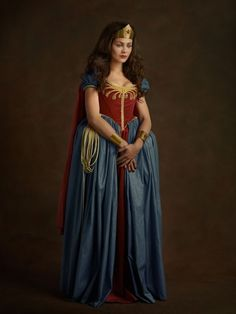 """Goldberger told BuzzFeed: """"The superheroes often live their lives cloaked in anonymity. These portraits give them a chance to """"fix"""" their narcissism denied.""""   If Superheroes Were From The Elizabethan Age"""