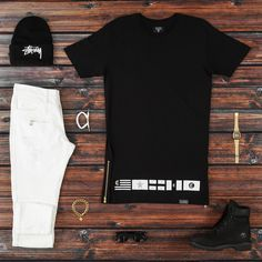 Streetwear - distressedjeans #bikerdenimjeans #timberlands #