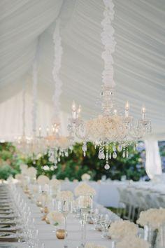 Elegant white tented reception: http://www.stylemepretty.com/canada-weddings/british-columbia/vancouver/2015/03/17/elegant-vancouver-botanical-garden-wedding/ | Photography: Taryn Baxter - http://blog.tarynbaxter.com/