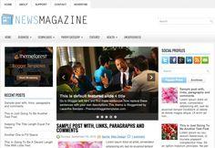 NewsMagazine - Free Blogger Template   If you like to make a magazine based blog