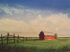 Jack Pingel Barn by stevegibsonart on Etsy, $40.00 wonderfully capturing mood!