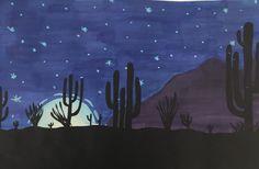 Landscape Positive And Negative, Negative Space, Skyline Silhouette, Student, Landscape, Painting, Art, Art Background, Scenery