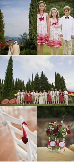 I love the style of dresses the bridesmaids have. My bridesmaids will have this style.