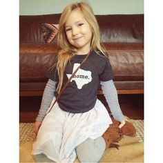 Our kids shirts create instant cuteness! The Texas Home T is seen here.