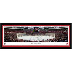 """New Jersey Devils 42"""" x 15.5"""" Center Ice Select Frame Panoramic Photo"""