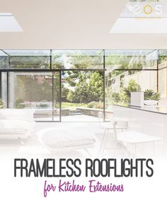 Sliding doors installed in the kitchen can not only make the space look visually attractive but also enhance the overall usability of the space. Adding glass rooflights an also add to the feeling of light and space #eosrooflights #slidingdoors #singlestoreyextension