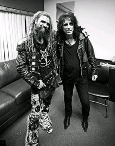Rob Zombie & Alice Cooper.