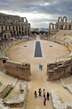Coliseo de El Jem,Túnez, el edificio romano más grande África.