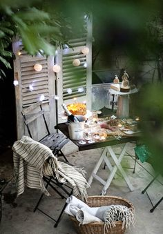 Cena en la terraza | Decoración