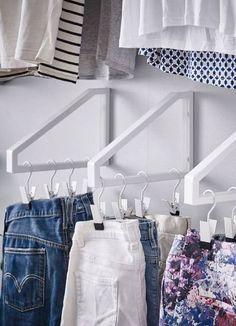 Ingenious Ikea hacks for small wardrobes, # storage wardrobes … – Wardrobe Storage Ikea Hacks, Ikea Hack Storage, Ikea Furniture Hacks, Hacks Diy, Bedroom Closet Storage, Ikea Closet, Wardrobe Storage, Diy Bedroom, Bedroom Ideas